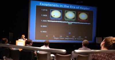 Meg Schwamb giving the Planethunters presentation