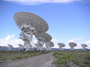 WE GOT TIME ON THE VERY LARGE ARRAY (this is a picture of some of it)