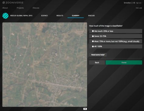 Screen Shot of the humanitarian project run by The Zooniverse for Orchid and Rescue Global