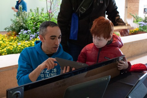 Sharing the Zooniverse app, suitable for all ages